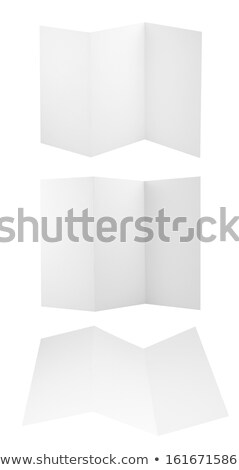 blank triple leaflet template isolated on white background stock photo © tuulijumala