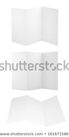 Ulotka szablon odizolowany biały projektu przestrzeni Zdjęcia stock © tuulijumala