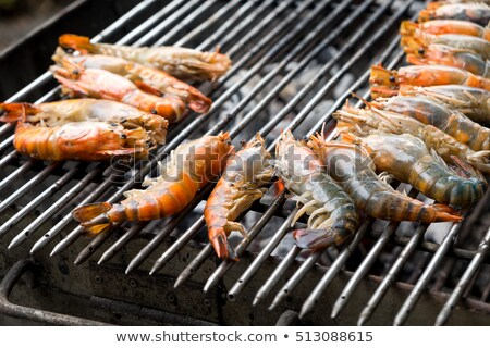 Grilled prawns for sale Stock photo © FrameAngel