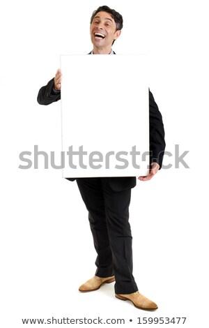 hearty salesman with a cheesy smile stock photo © smithore
