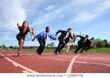 group of businessmen running business concept stock photo © kirill_m