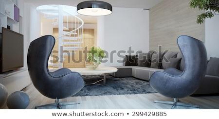 interior design  egg chair with lighting stock photo © shawlinmohd