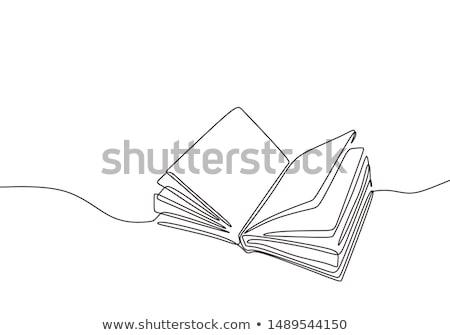 Сток-фото: книга · икона · цвета · бизнеса · бумаги · знак