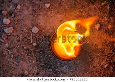 Ardente caminho abstrato padrão fogo fundo Foto stock © kimmit