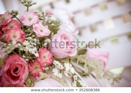 Geschenk bloemen kunstmatig steeg Stockfoto © natika