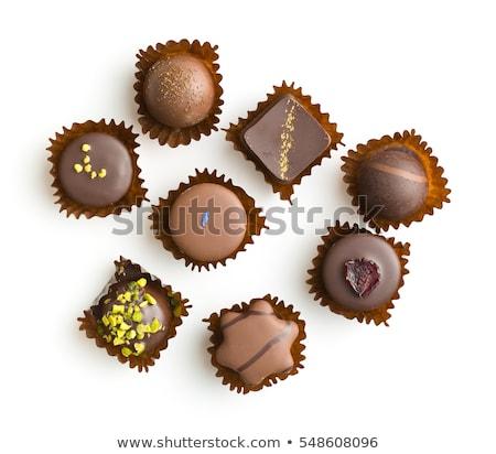 チョコレート 孤立した 白 食品 背景 キャンディ ストックフォト © natika