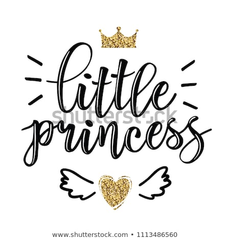 Cute little princess with prince, vector illustration Stock photo © carodi