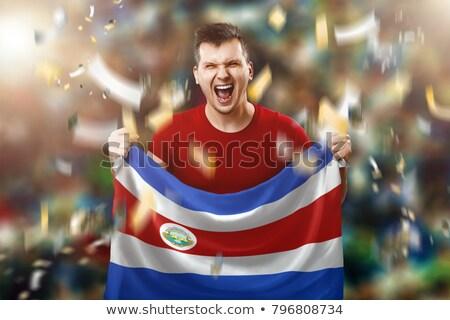 Costa · Rica · vlag · vector - stockfoto © orensila