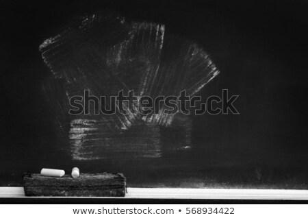 Сток-фото: доске · текстуры · белый · мелом · Eraser · диагональ