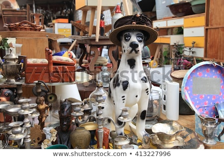 Statue of dog for sale in a store Stock photo © bmonteny