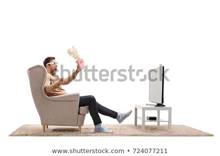 lcd · tv · izlemek · beyaz · bilgisayar · teknoloji - stok fotoğraf © iserg