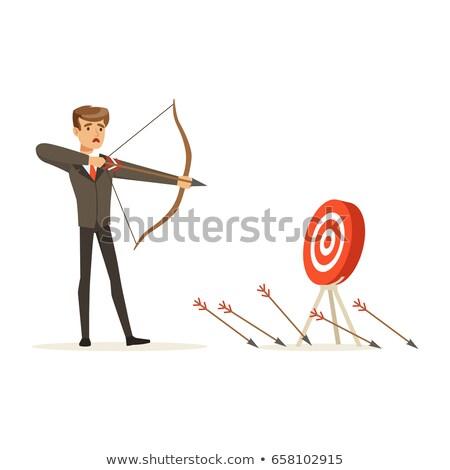 Stress - Arrows Hit in Red Mark Target. Stock photo © tashatuvango