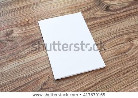 Modelo de design branco papel mesa de madeira eps 10 Foto stock © sabelskaya