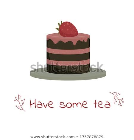 Mały ciasta puchar tabeli Zdjęcia stock © jeancliclac