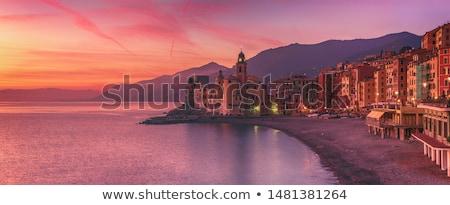 Akşam ünlü ev şehir Stok fotoğraf © Antonio-S