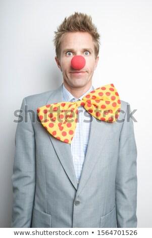 незрелый бизнесмен портрет изолированный белый бизнеса Сток-фото © elwynn