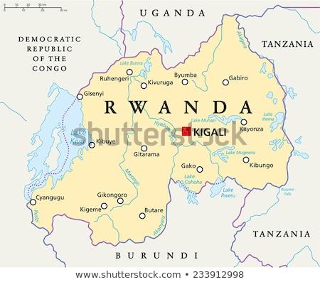 Carte Rwanda différent blanche bleu Photo stock © mayboro1964