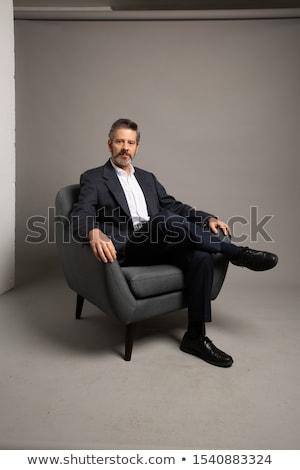 sessão · sofá · escritório · mulher - foto stock © deandrobot