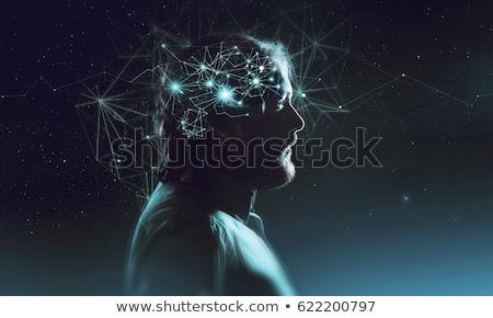 Micro hersenen microprocessor hoofd wetenschap technologie Stockfoto © idesign