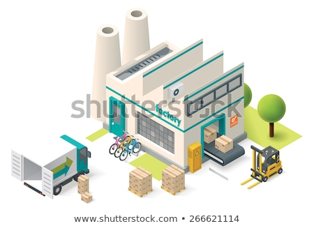 Vector Isometric Factory Stok fotoğraf © tele52