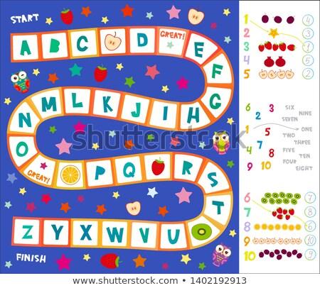 Leads - White Word on Blue Puzzles. Stock photo © tashatuvango
