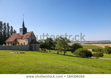 small village church in france stock photo © hofmeester