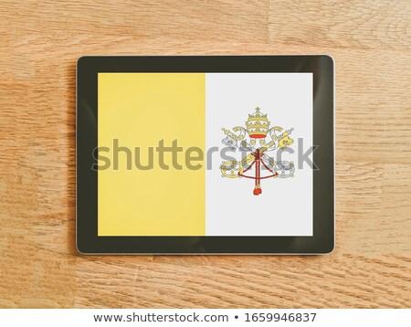 Tabletka Watykan banderą obraz świadczonych Zdjęcia stock © tang90246