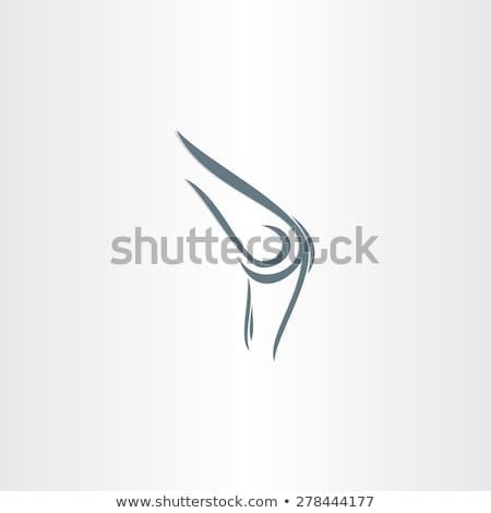 Estilizado joelho símbolo dor médico saúde Foto stock © blaskorizov