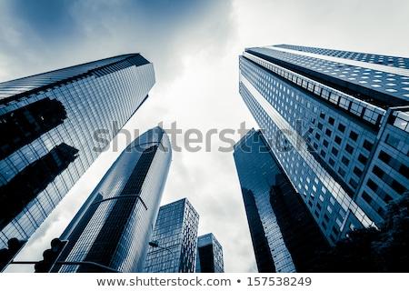 toronyház · épületek · közelkép · kilátás · nap · tükröződés - stock fotó © cherezoff