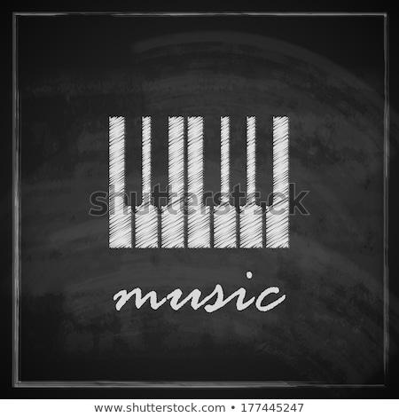 Piano keys icon drawn in chalk. Stock photo © RAStudio
