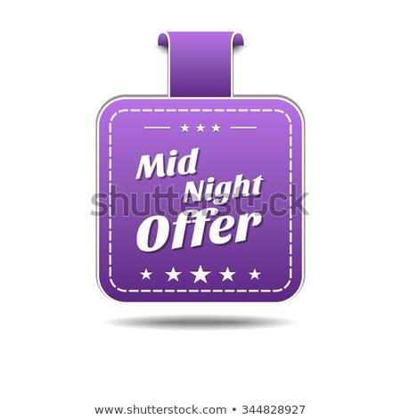 полночь предлагать фиолетовый вектора икона дизайна Сток-фото © rizwanali3d