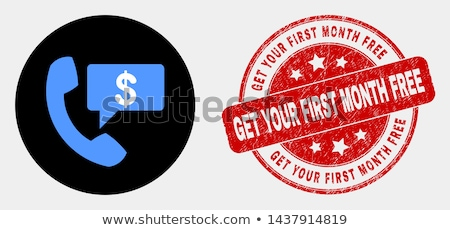 Get Free Support Blue Vector Icon Design Stock photo © rizwanali3d