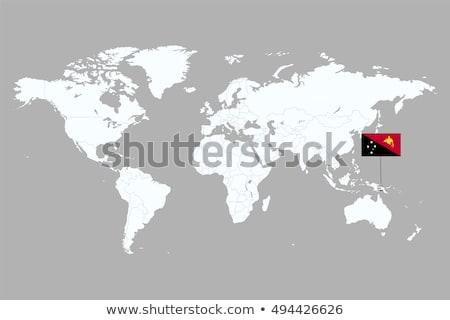 Brazília Pápua Új-Guinea zászlók puzzle izolált fehér Stock fotó © Istanbul2009