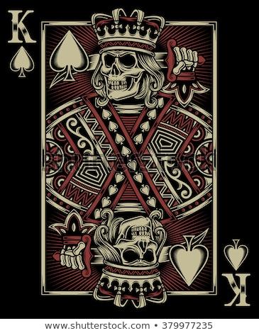 Király pikk játszik kártya fehér piros Stock fotó © Bigalbaloo