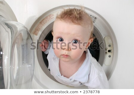 Stockfoto: Pure Baby From Washer 2