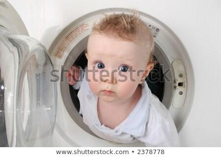 bebê · máquina · de · lavar · cara · crianças · olhos - foto stock © Paha_L