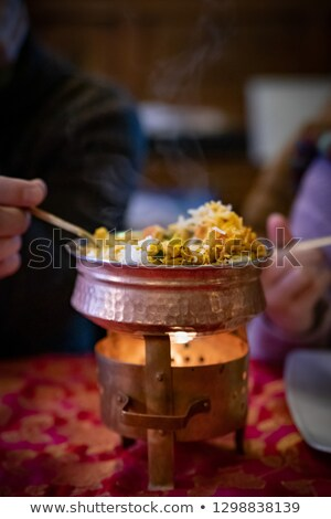 Beggar chicken served in restaurant Stock photo © tang90246