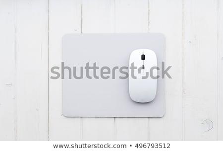 Drótnélküli egér számítógép kommunikáció fekete fehér Stock fotó © shutswis
