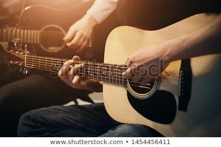 Acoustique classique guitare noir musique bois Photo stock © ankarb