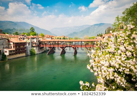 The Ponte Vecchio in Bassano del Grappa Stock photo © smuki