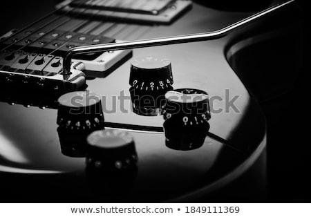 Black Guitar Stock photo © Bigalbaloo