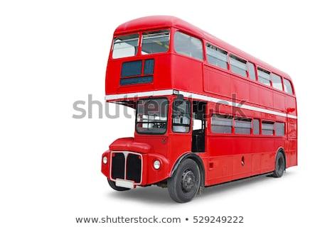 Doble autobús mascota ilustración senalando arte Foto stock © lenm