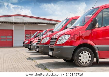 camion · di · consegna · illustrazione · camion · libero · pacchetto - foto d'archivio © adrenalina