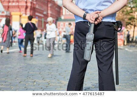 Hand-held metal detector Stock photo © magraphics