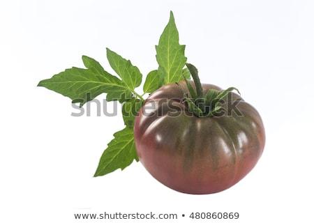 Kahverengi domates yalıtılmış karanlık kırmızı yeşil Stok fotoğraf © maxsol7
