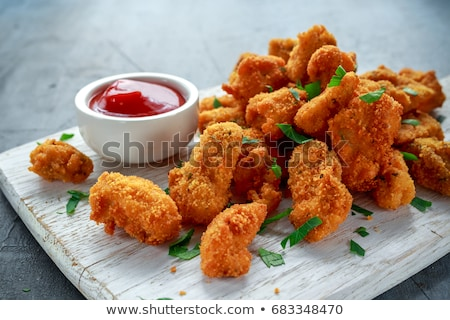 Pollo ostra setas alimentos placa vegetales Foto stock © Digifoodstock