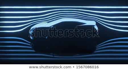 Vento túnel carro ilustração 3d referência real Foto stock © idesign