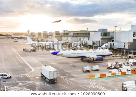 airplanes at airport stock photo © svetography