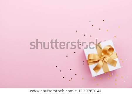 Minimalist Christmas card with decorations and gifts boxes Stock photo © orson