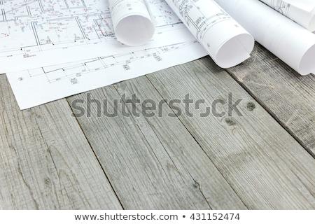 Terv fa asztal szó gyermek háttér oktatás Stock fotó © fuzzbones0